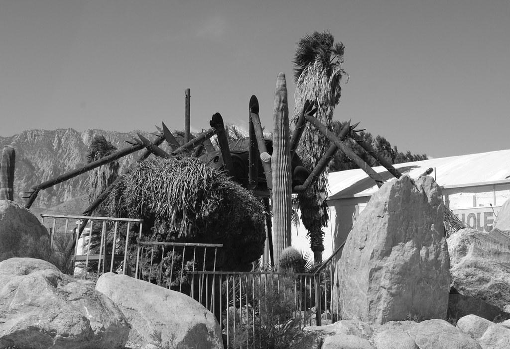 only in the desert vw bug spider sculpture north palm sp flickr. Black Bedroom Furniture Sets. Home Design Ideas