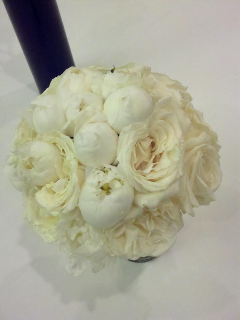 white peony and white garden rose bridal bouquet bridal bo flickr - Garden Rose And Peony