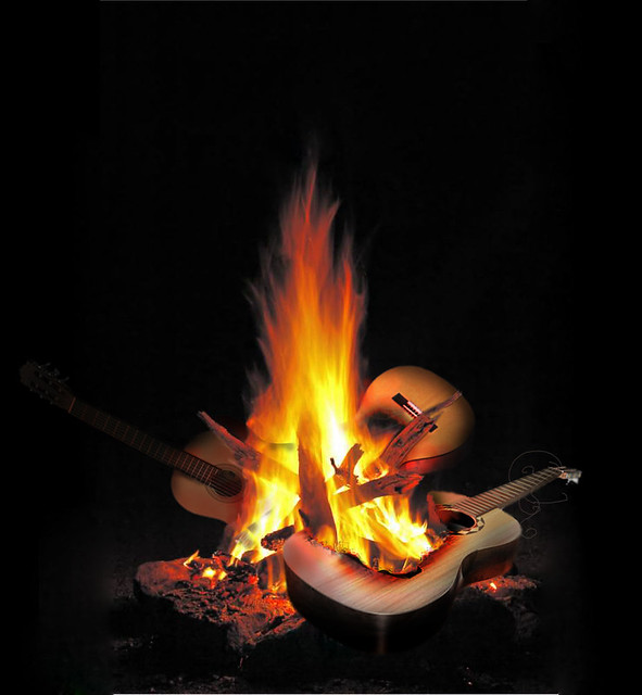 how to play the campfire song song on guitar