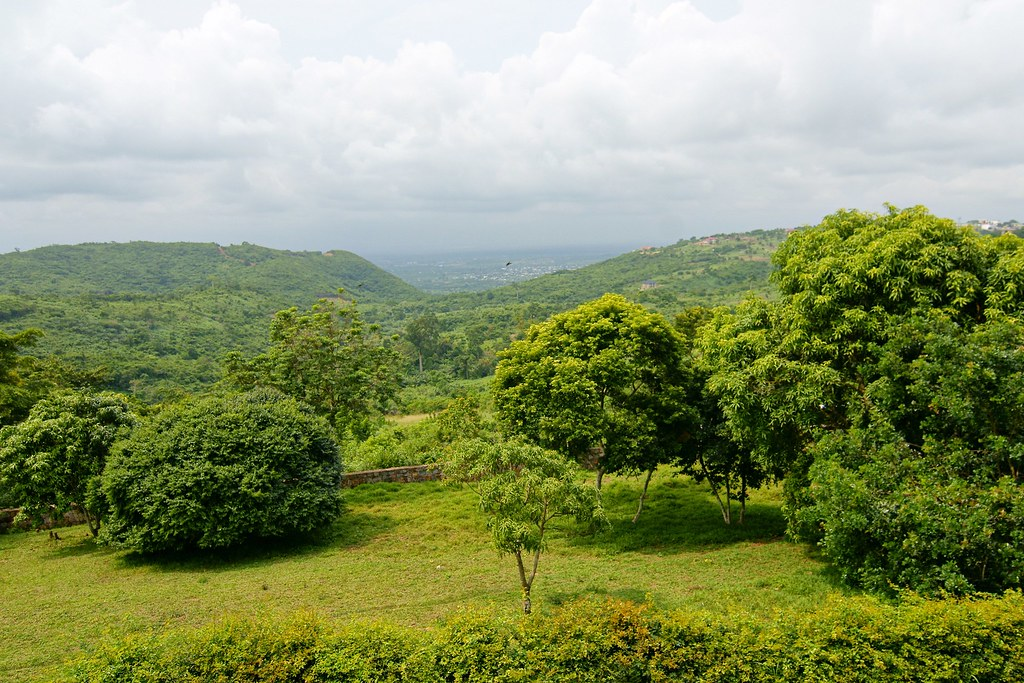 Ghana Lush Landscape A View From Up On The High Ridge