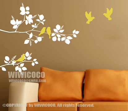 Wall Decals Yellow Birds And Nature Other Design Check Her Flickr - Yellow wall decals