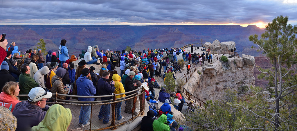 Grand Canyon Easter Sunrise Service 2011 Mather Point Flickr