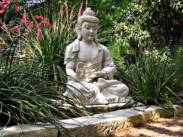 new buddha statue at austin zen center flickr photo sharing. Black Bedroom Furniture Sets. Home Design Ideas