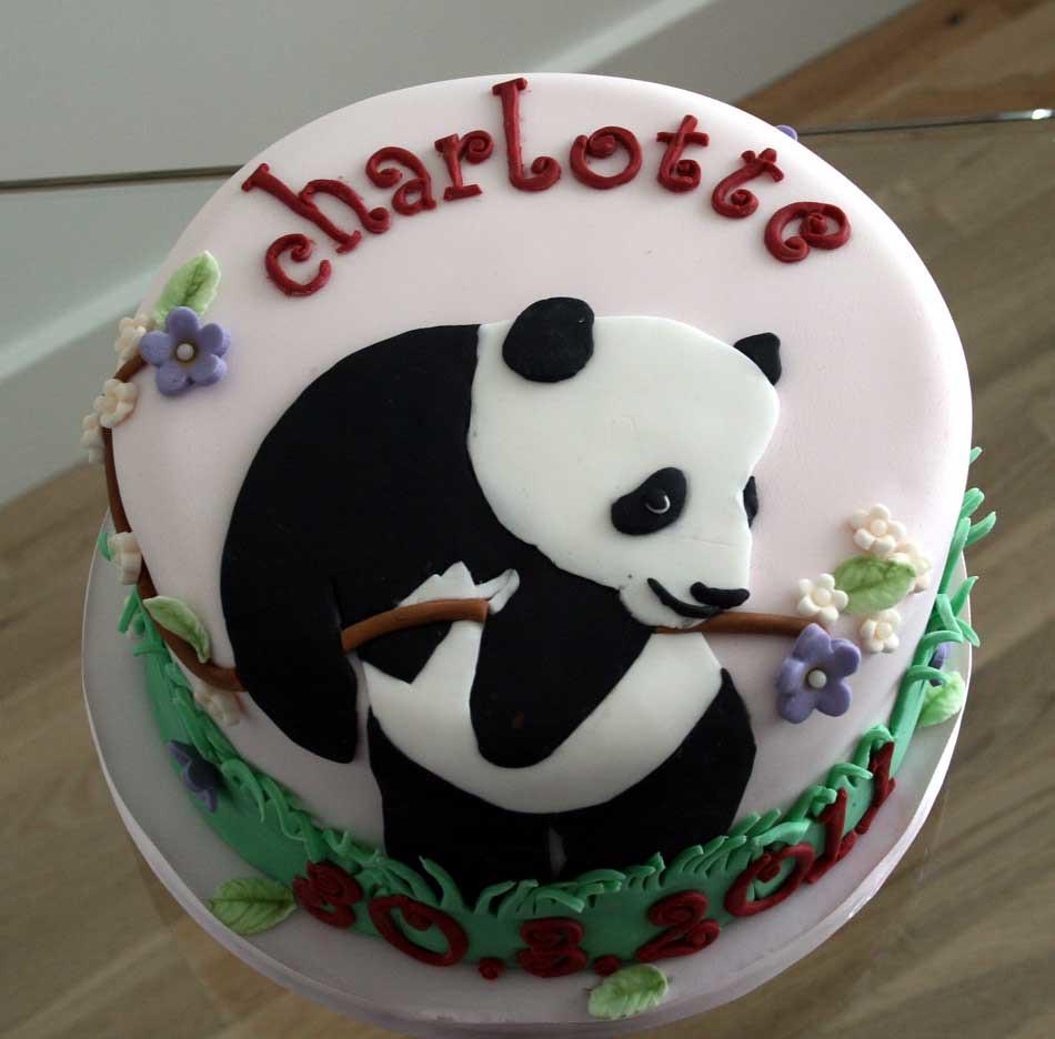 Panda Cake For Baby Shower
