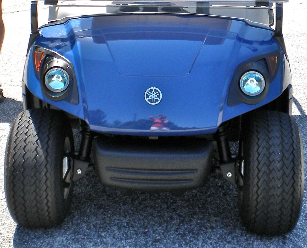 Blue Yamaha G Golf Cart
