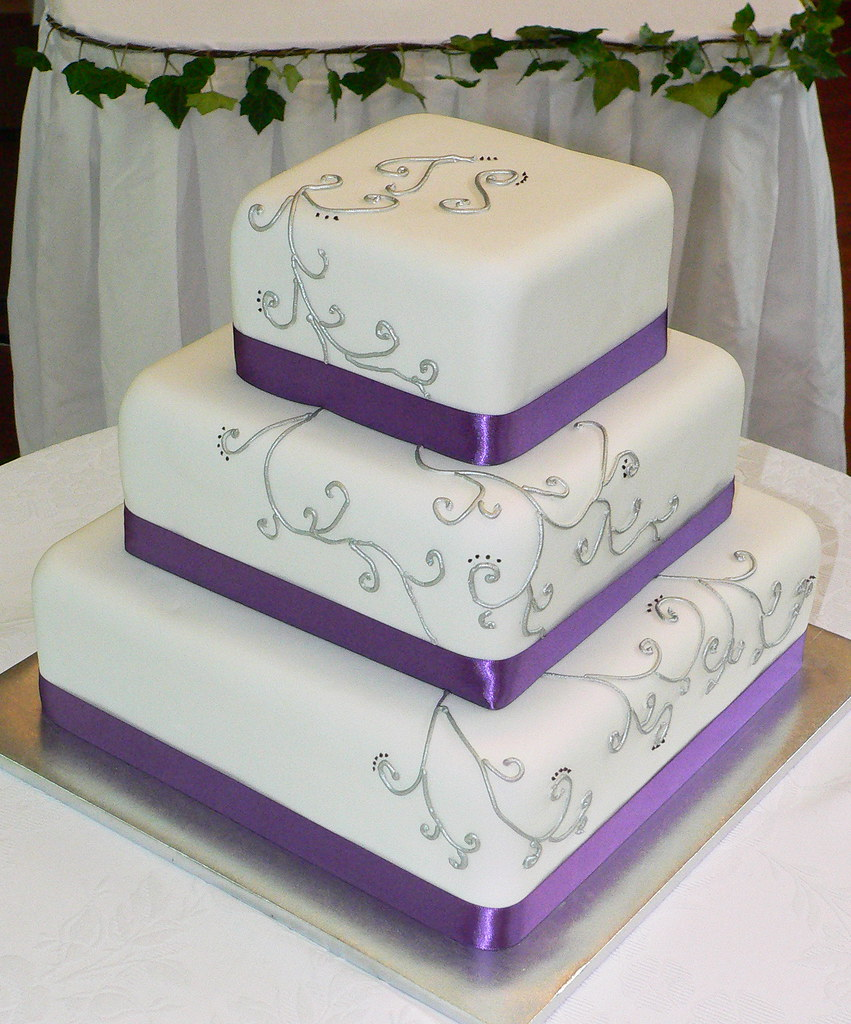 purple silver and white wedding cake purple and silver wedding cake wishuponacake 18904
