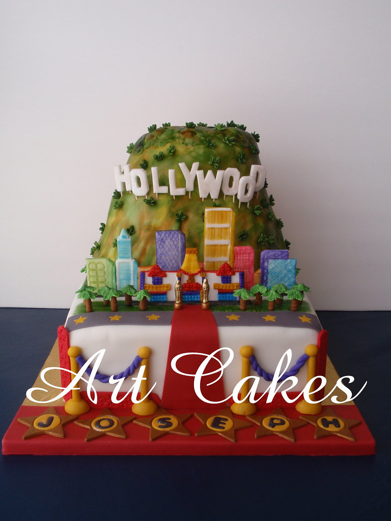 Hollywood Birthday Cake This cake is for a young boy 16 ...