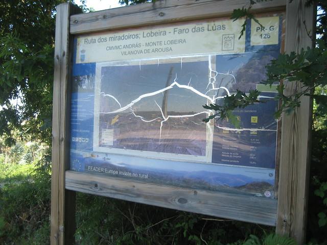 Panel Informativo en el PR-G 126 Ruta dos Miradoiros Lobeira - Faro das Lúas