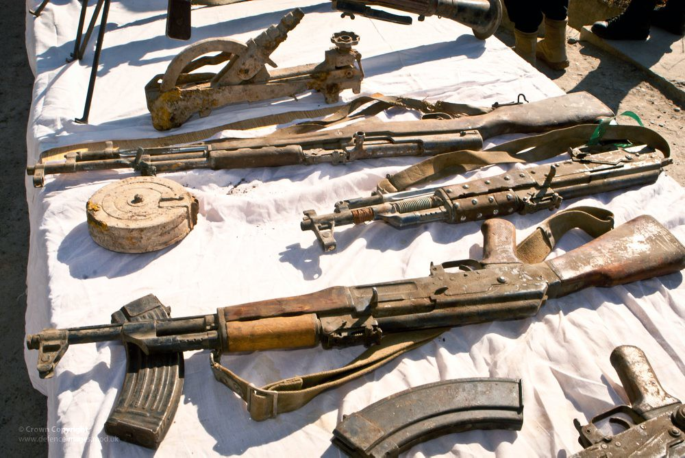 Weapons Haul Seized By Troops In Afghanistan Weapons