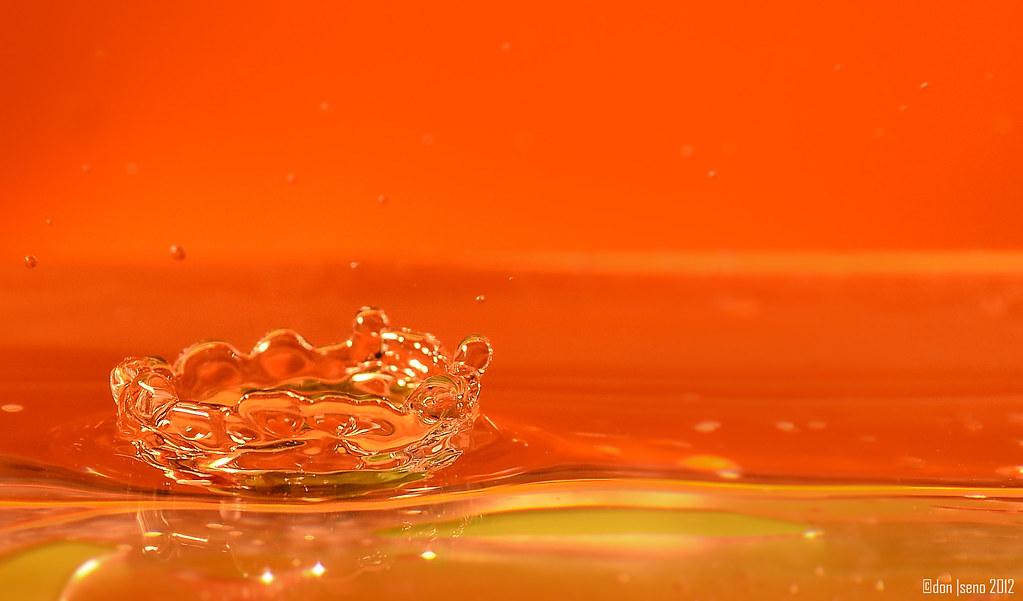 Orange Water Crown Yongnuo Yn560 Full Power On A