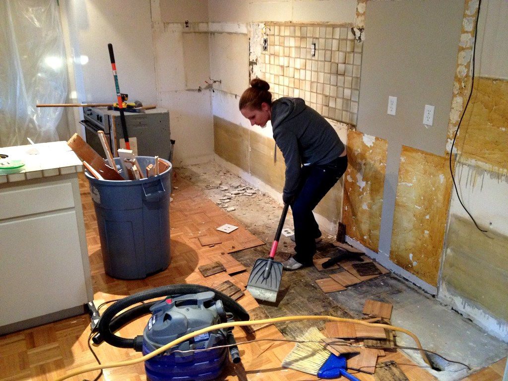 Removing Kitchen Tiles