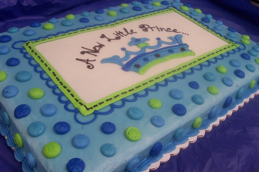 Little Prince Themed Baby Shower Cake