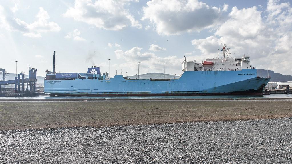 MS Anglia Seaways Docking (Belfast Port) 006