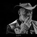 Fan Johnny Hallyday style dragan portrait en noir et blanc 2
