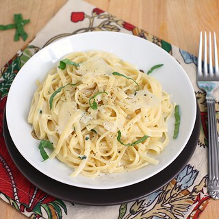 Linguine with Two-Cheese Sauce | by Tracey's Culinary Adventures