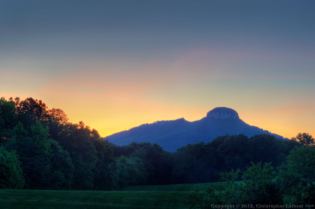 magnificent mountain sunset hdr - photo #20