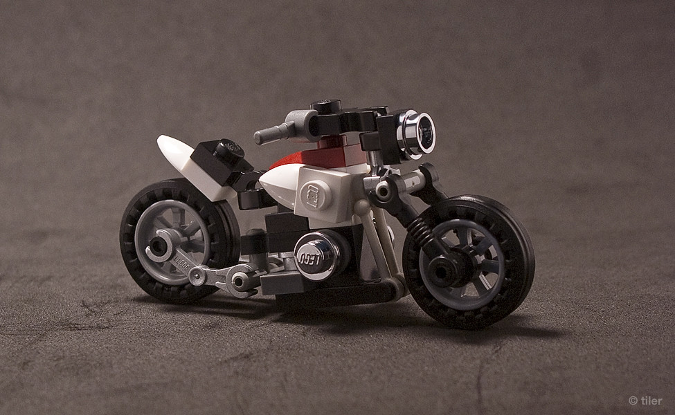 Matchbox Motorcycle Lego Motorbike | The sports version of this one. The rear fe ...