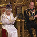 Her Majesty the Queen gives the speech in the Lords chamber
