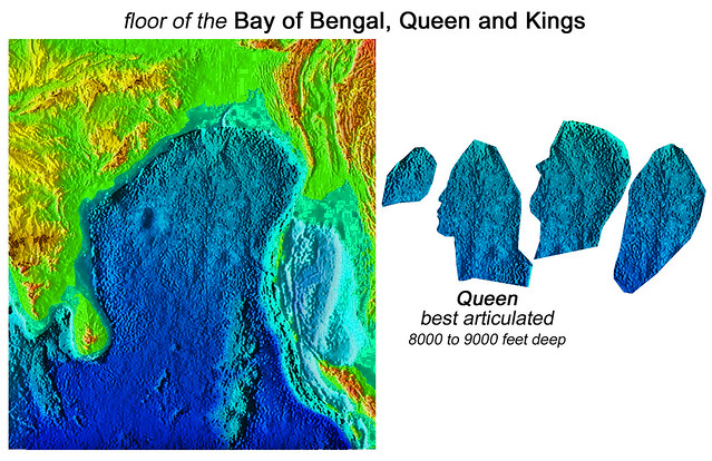 Floor of the Bay of Bengal, articulated Queen and Kings, convergent ...