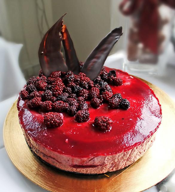 Blackberry mousse cake w/ fresh blackberries on top | Flickr - Photo ...