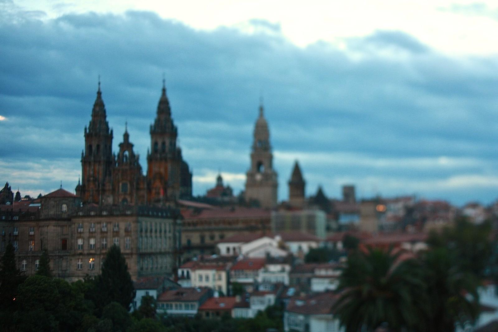 Santiago de Compostela cathedral at dusk