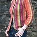 spoked garter yoke cardigan