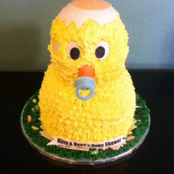 Baby Shower Easter Themes ~ Easter themed baby shower chick cake gayon donald