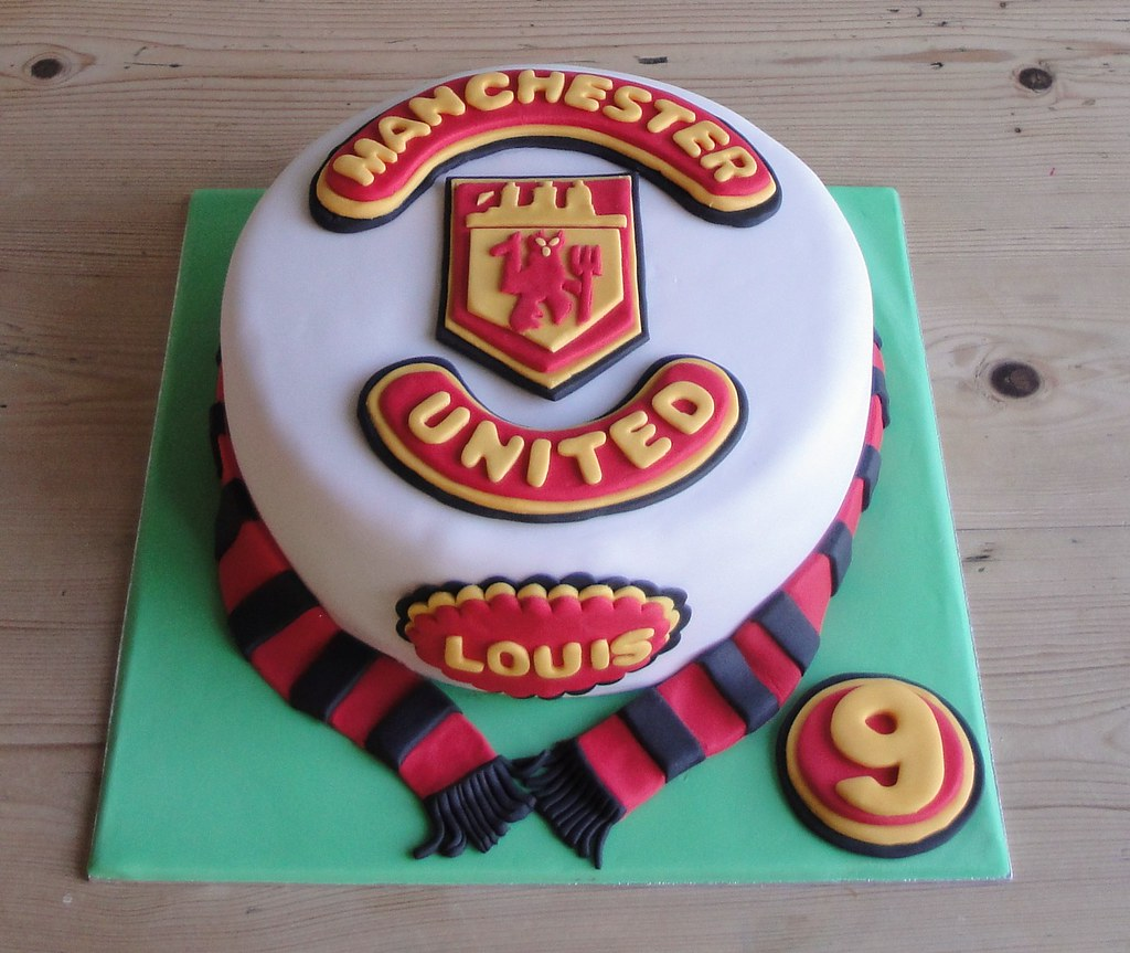 Manchester United Cake Louis s 9th Birthday Cake! Flickr
