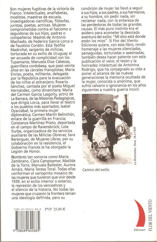 RODRIGO, Antonina. Mujer y exilio. 1939. Madrid: Flor del Viento, 2003.