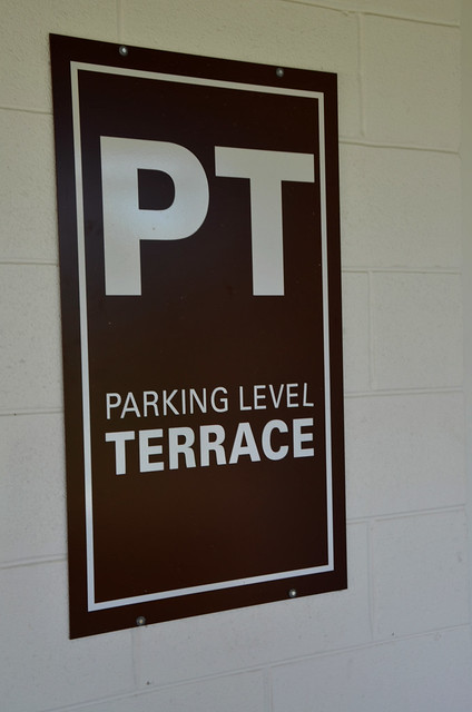 Terrace level parking sign flickr photo sharing for Terrace level