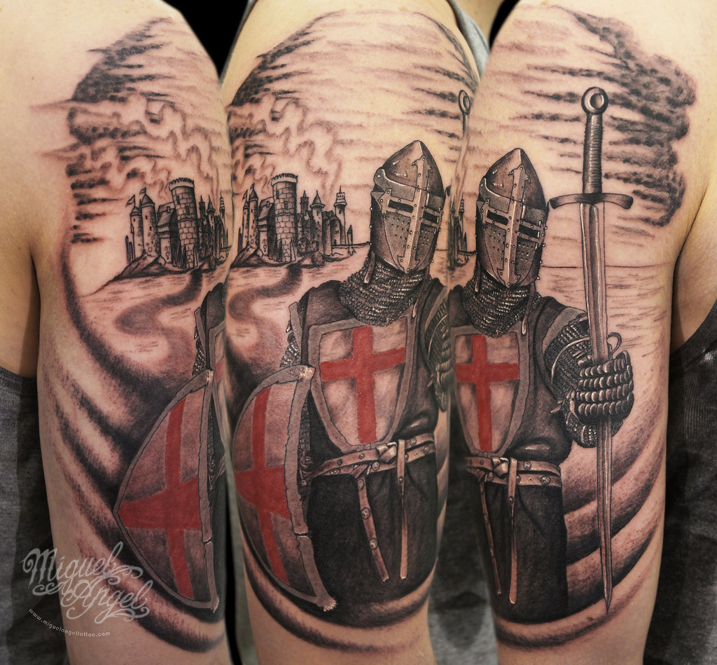 custom knight templar tattoo miguel angel custom tattoo ar flickr. Black Bedroom Furniture Sets. Home Design Ideas