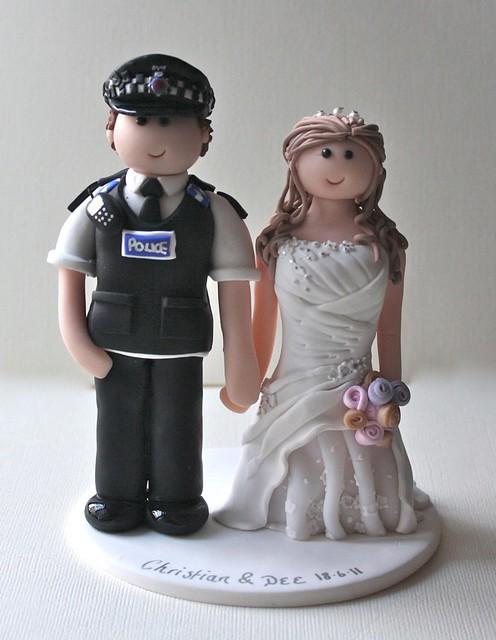 Police Wedding Cake Topper