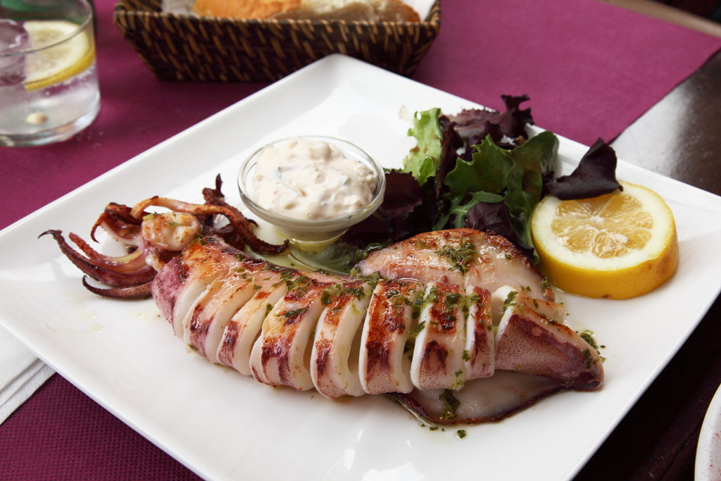 Calamar a la plancha, Grilled Squid / Spain | Squid is a ...
