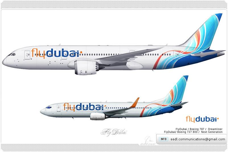 fly dubai livery concept flydubai boeing 787