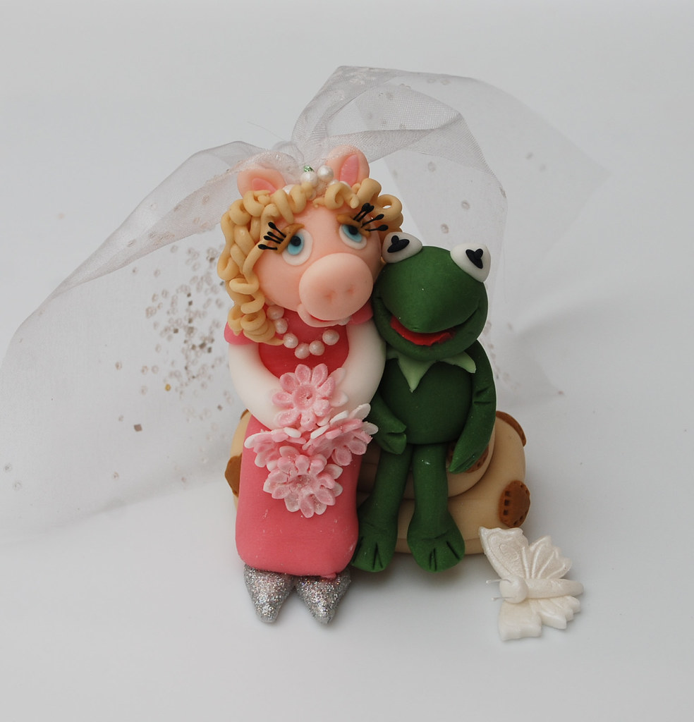 Kermit And Miss Piggy Cake Topper