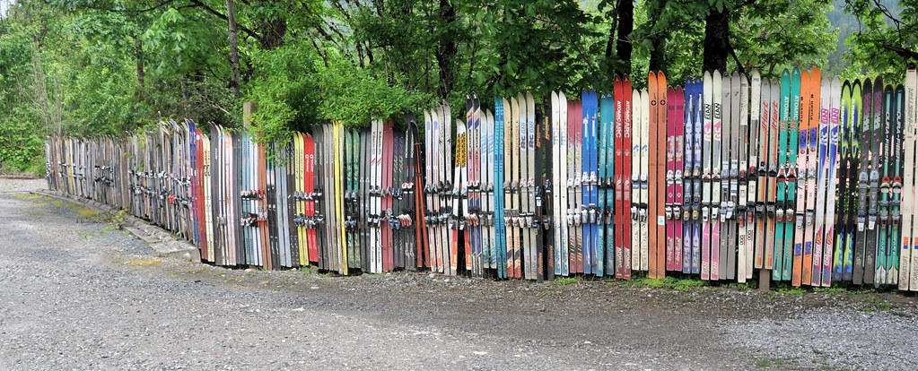 Unusual fence seen in the town of glacier along