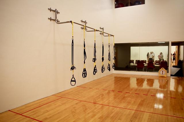 Trx classroom formally a racquetball court building 8 for Build a racquetball court