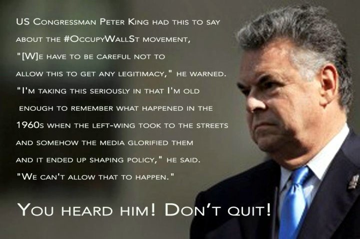Peter King on Occupy