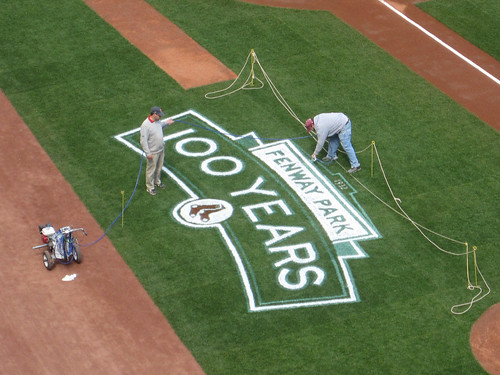 Fenway Park - logo prep - April 11, 2012 | by misconmike