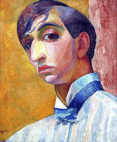 Grunewald, Isaac (1889-1946) - 1912 Self-Portrait | by RasMarley