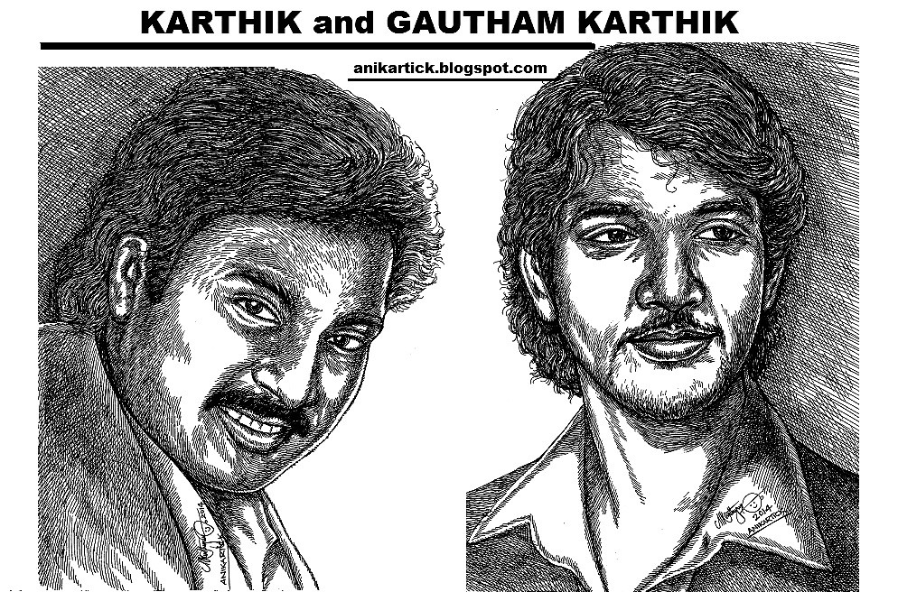 Actor Gautham Karthik and his Father Karthik Actor in my P