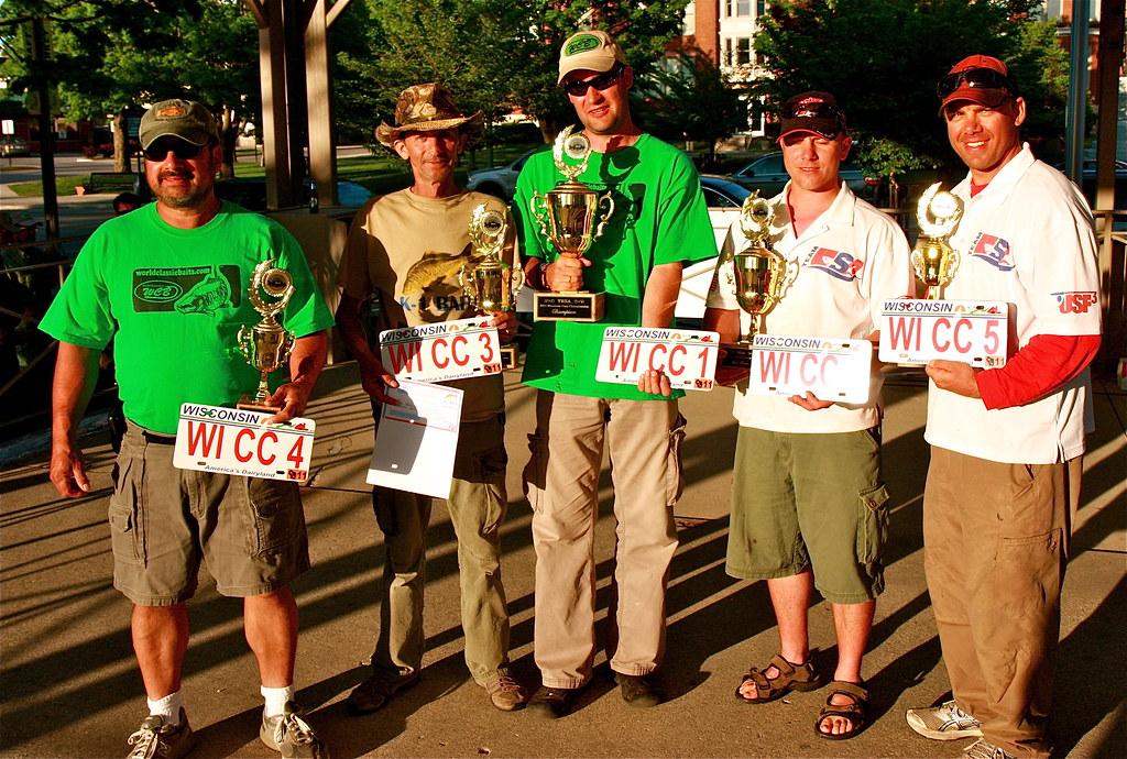 Top five winners wisconsin carp fishing tournament and for Wisconsin fishing tournaments