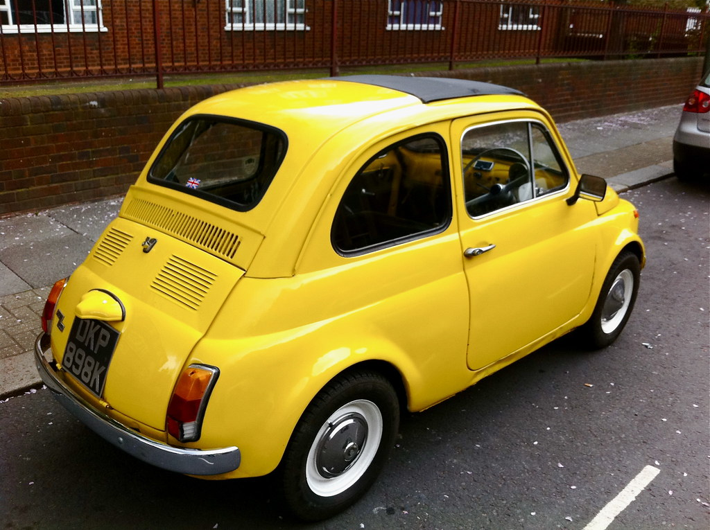 yellow fiat 500 39 topolino 39 this beautiful little miss suns flickr. Black Bedroom Furniture Sets. Home Design Ideas