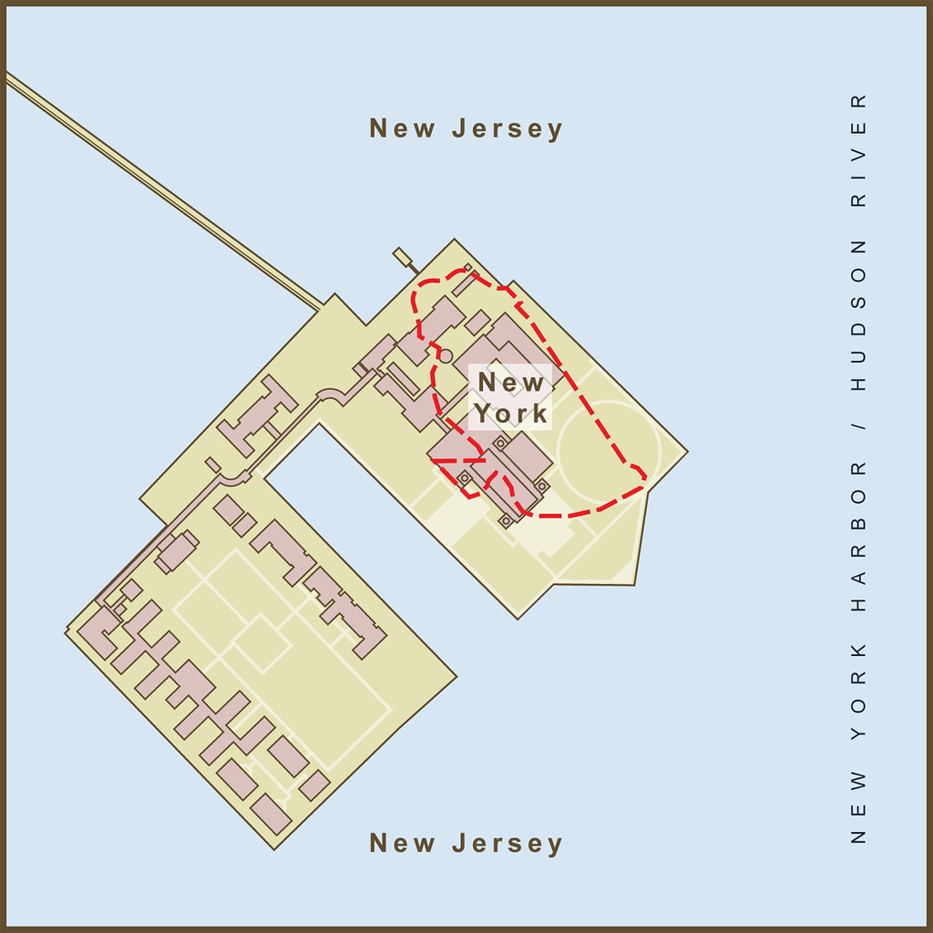 Map of the Border Between New York & New Jersey on Ellis… | Flickr