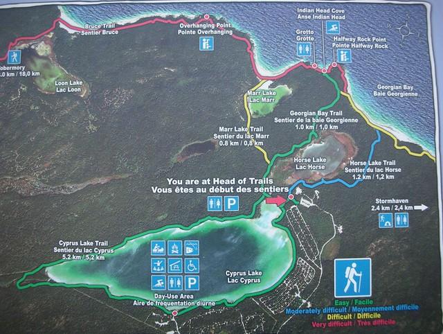 map of bruce peninsula national park flickr   photo sharing