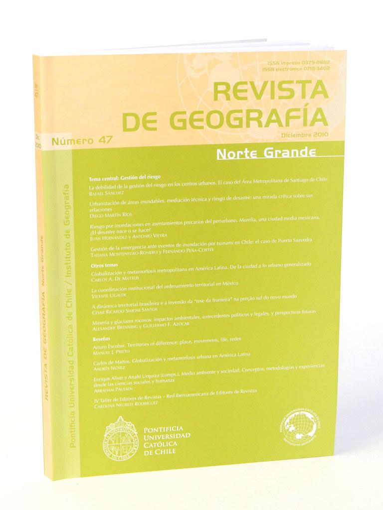 Norte Grande Revista Revista de Geografía Norte