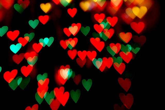 Merry Christmas Heart Bokeh   Flickr - Photo Sharing!