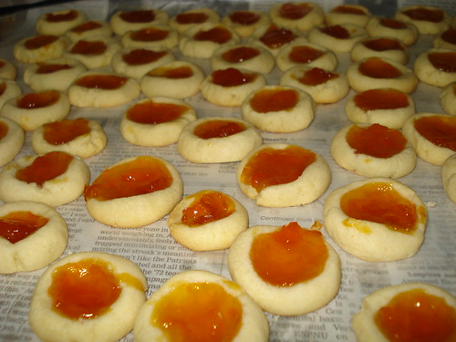 Apricot thumbprints | Love these, buttery and jammy ...