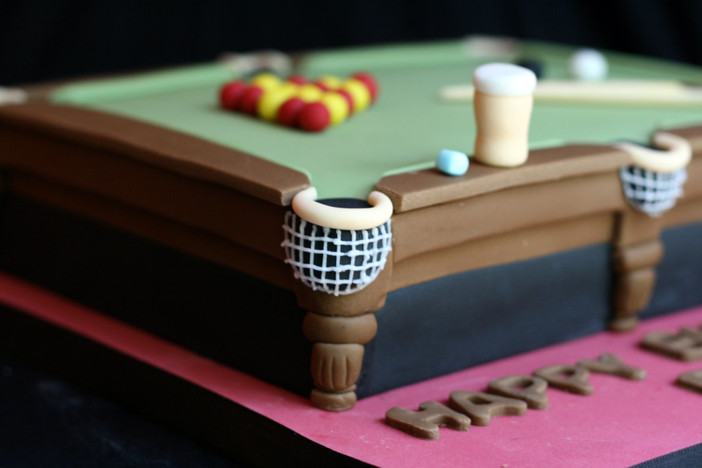 Pictures Of Pool Table Birthday Cakes