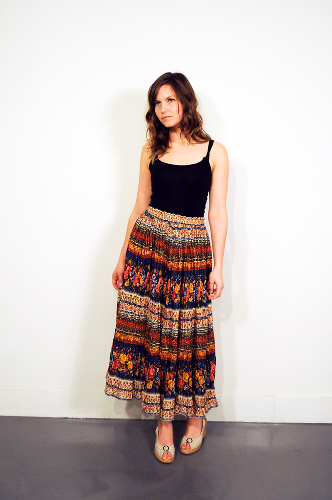 sold out  boho floral maxi skirt